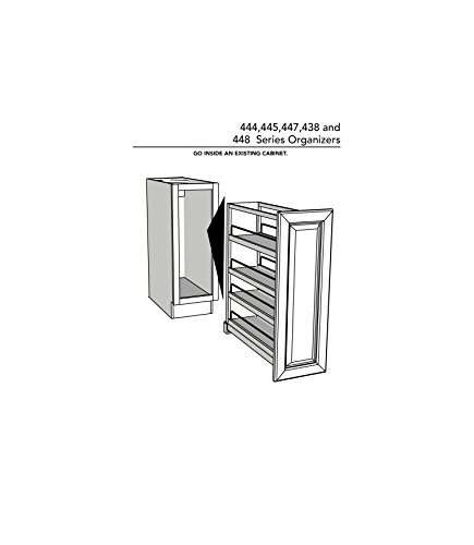 Rev-A-Shelf 448-BC-8C Base Cabinet Pullout Organizer with Wood Adjustable Shelves Sink & Base Accessories, 8-Inch by Rev-A-Shelf (Image #6)