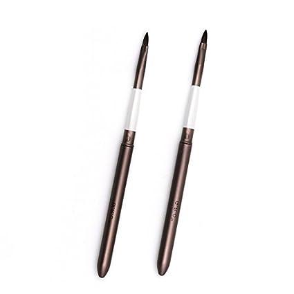 2 piezasx Pincel de labios retráctil con tapa, accesorio de maquillaje profesional Tong Yue
