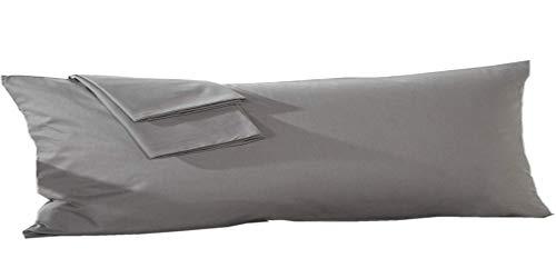 YAROO Envelope Body Pillowcase,100% Cotton 250 Thread Count 1 Piece,Fits 21 x 54 Body Pillow,Dark ()