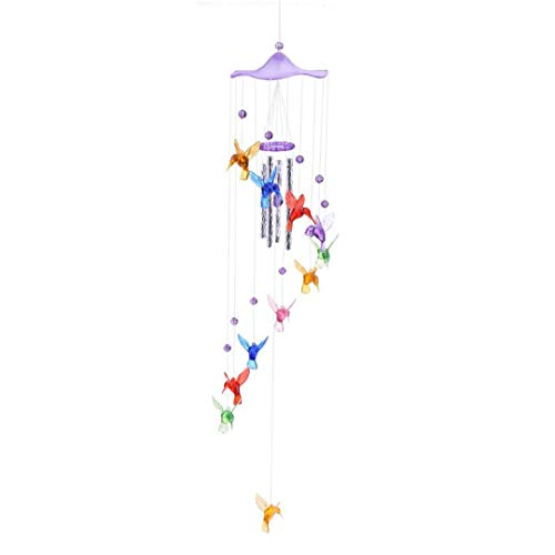 Qgbyh Creative Lucky Wind Chimes Hanging Gifts Door Hanging Decor Year Gift 4Colors as pic show2