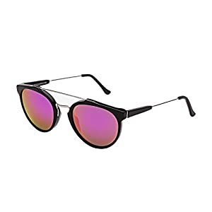 RETROSUPERFUTURE Giaguaro Cove Black Sunglasses LJ9 Black Pink Zeiss Mirror Lens