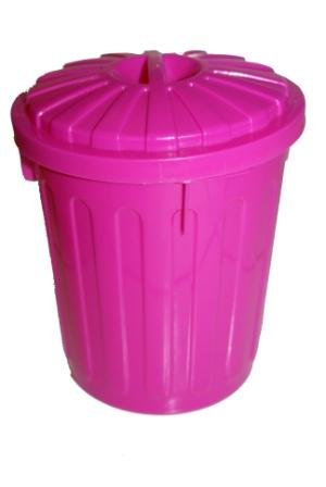 Funky Coloured Small Lidded Plastic Storage Bins, Available In Blue, Pink,  Green Or