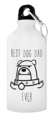 Best Dog Dad Ever Funny Dog Middle Finger Dog Lover Gifts for Women Dog Person Gift Gift 20-oz Aluminum Water Bottle with Carabiner Clip Top Dog Dad