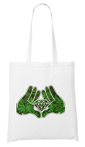 Bolsa Weed Dope Hands Blanco Diamond aq47wZ