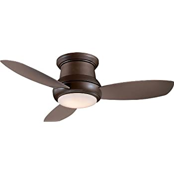 Minka Aire F519 Wh Concept Ii 52 Quot Flush Mount Ceiling Fan With Light Amp Remote Control White