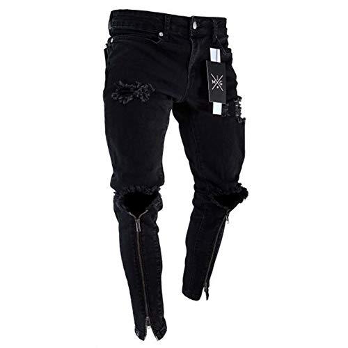 Hombres Suncaya Jeans Pantalón 1898 Pantalones Pitillo Elasticos Personalidad Agujero Vaqueros Evq4rv