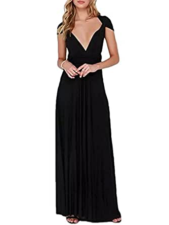 PERSUN Infinity Gown Dresses Multi-Way Strap Wrap Convertible Maxi Dresses For Womens