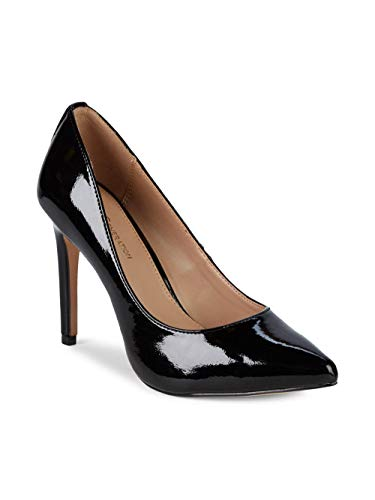 BCBGeneration Women's Heidi Leather Pump, Black Crinkle Patent, 6.5 M from BCBGeneration
