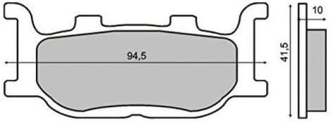 XP 500 T-Max Bremsbel/äge Vorne f/ür Yamaha YP 250 Majesty