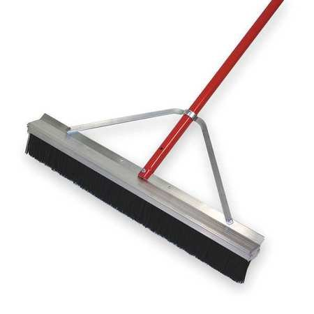 TOUGH GUY Black Polypropylene Push Broom with Handle by Tough Guy