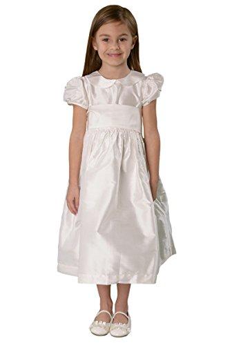 Strasburg Children Girls' Audrey Silk Communion Flower Girl Dress (7) by Strasburg Children
