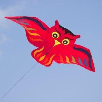 Einleiner-Drachen für Kinder - Hugo rot - inkl. Drachenschnur