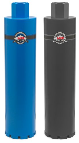Professional Heavy Steel Core Bits - MK Diamond 156574 4-Inch Blue Turbo Professional Grade Core Bit For Hard Aggregate With Heavy Steel