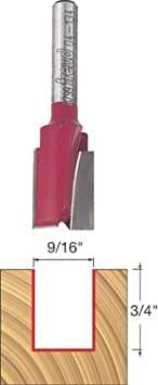 Dia. Double Flute Straight Bit with 1//4 Shank 04-136 Freud 5//8
