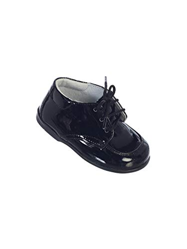 Avery Hill Boy's Leather Derby Oxford Dress Shoes with Stitching Across Toe - Black 3 by Avery Hill