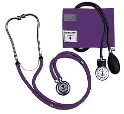 Lumiscope Purple Blood Pressure and Stethoscope Kit, Health Care Stuffs