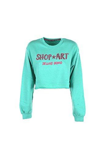 Felpa Donna Shop Art L Verde 18esh32600 Primavera Estate 2018
