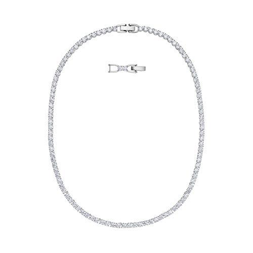 Swarovski Women's Deluxe Tennis Bracelet, Necklace Crystal Jewelry Collection