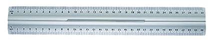 Alluminio 30 cm Wedo 0525235 Righello con Impugnatura per Destri e Mancini