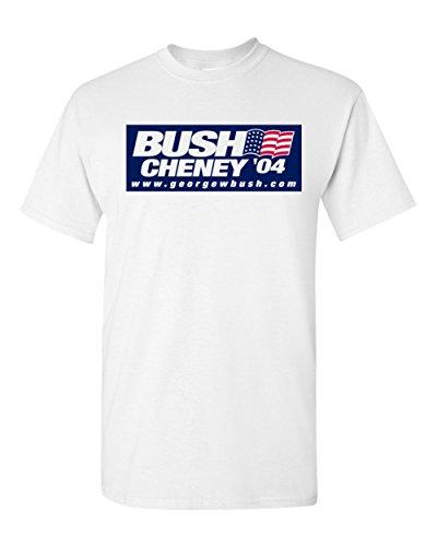 Bush Cheney 04 Republican George W 2004 White T-Shirt (White, XL)