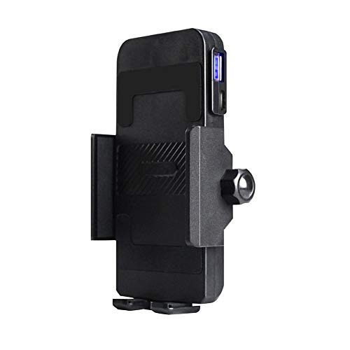 Motorcycle Phone Mount With USB Charger,USB Port Install On Handlebar Bar, Cell Phone Holder Suit For iPhone ,Samsung ,Motorola ,Nokia And More