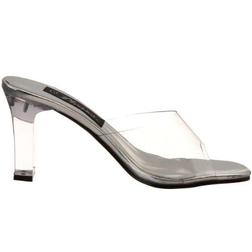 Fabulicious Mujeres 3 1/4 Pulgadas Square Heel Slide (claro; 14)