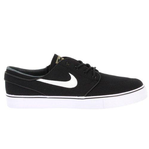 Nike Mens Zoom Stefan Janoski Cnvs Blk/white/gm Lght Skate Shoe (9)