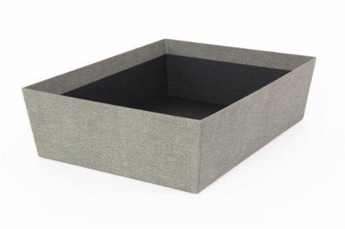 Tapered Storage - Bigso Hera Tapered Canvas Paper Laminate Storage Bin/Hamper, Grey
