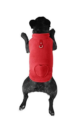 Lil Piggy Fleece Cold Weather Dog Vest Dogs Waste Bags in Pocket