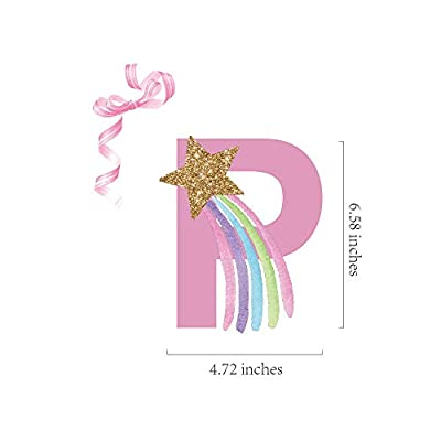 Unicorn Happy Birthday Banner/Unicorn Party Supplies Decorationsfor Kids Birthday Party Bunting Flag Garland Decoration,Pink: Toys & Games