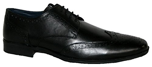 Leder Kleid Schuh Leather Arbeit Lace patricks Echt Herren Up Smart Casual Black Brouge vqWBqEfx0w