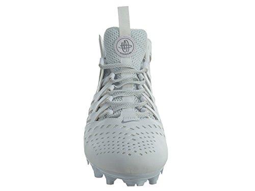 Nike Mens Huarache V Lax Scarpe Con Tacchetti Bianco / Argento Metallizzato