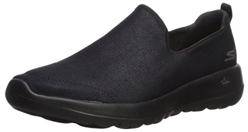 Go Black Skechers Zapatillas Gratify Cordones Mujer sin para Joy Walk Negro qUU6dS