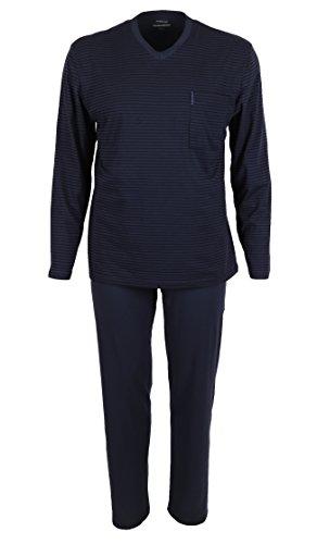 56 Total Pyjama 100 Foncé Pour Bleu Homme Long Eclipse 2 Pièces Coton Taille Ammann Couleur 48 De Adw0Zw