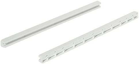 Gedotec 10/Ball Bearing Drawer Runners Guide Rail 430/mm Wire Baskets with Slide 18/mm Wide Trim with Drawers Brand Quality for Your Living Room Plastic PVC Slide Rail Guide