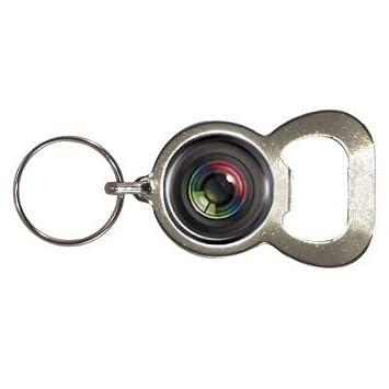 Amazon.com: Llavero y abridor Diseño de lente de cámara ...
