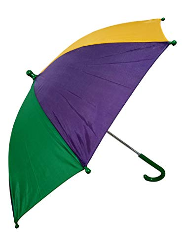 Mardi Gras Umbrella Second Line Parasol Green Purple Gold 16