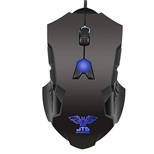 (J-Tech Digital M999 Professional Gaming High Precision 200 to 8200 DPI Adjustable DPI LED Wired USB Laser Gaming Mouse for PC, 8 Programmable Buttons, 5 User Profiles, Omron Switches, Avago Sensor)