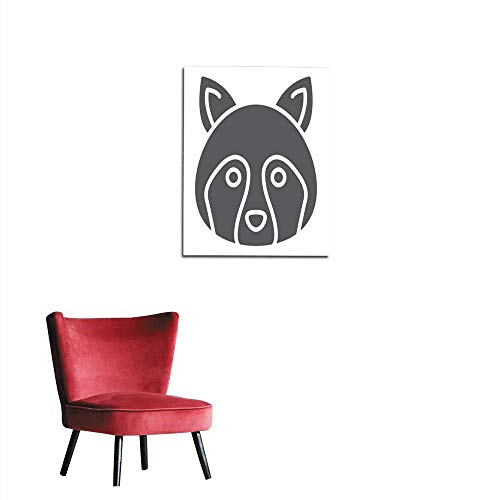 Eps Vector Sign - longbuyer Wall Sticker Decals Racoon Glyph icon Animal and Zoo Coon Sign Vector Graphics a Solid Pattern on a White Background eps Mural 16
