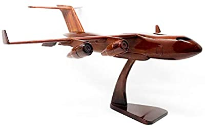 C-17 Globe Master Replica Airplane Model Hand Crafted with Real Mahogany Wood
