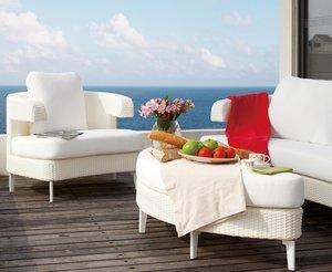 Salon de jardin design haut de gamme Salina, coloris blanc ...