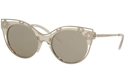 Michael Kors Women's Melborne 0MK1038 52mm Crystal Clear Injected/Silver Mirror One ()