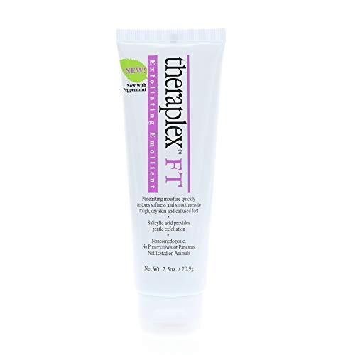 Emollient Theraplex - Theraplex Exfoliating Emollient Cream, Peppermint, 2.50 oz, for Rough, Dry Skin, Callused Feet