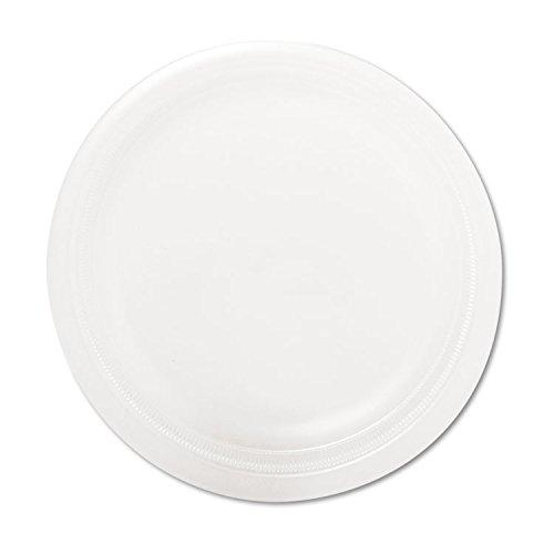 """Mediumweight Foam Dinnerware, Plates, 6"""" dia, White, 1000/Carton"""