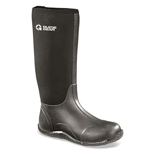 Guide Gear Men's High Bogger Waterproof Rubber Boots, Black, 14D (Medium)