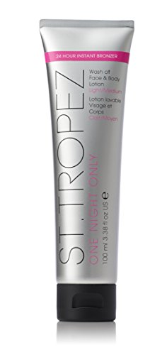 St. Tropez One Night Only Wash Off Face & Body Lotion, Light|Medium, 3.38 fl. oz.