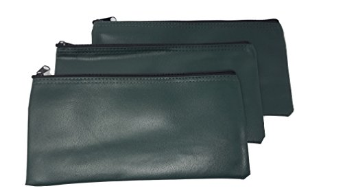 ProEquip 3 Piece Set PM Company Security Bank Deposit Bag / Utility Zipper Coin Bag / Pouch Safe Money Organizer Bag / 11 X 5.5 Inches (Free Return) (Bank Bag-Pack of 3 - Green) by ProEquip (Image #3)
