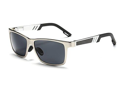 Wayfarer Argent Léger Gris UV Ultra Mg lunettes REDPEONY Conduite Hommes Polarisées Al 400 Frame Metal de Protection soleil aOOUqtT