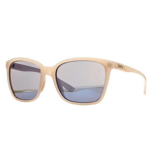 Smith Colette Carbonic Sunglasses with Blue Flash Mirror Carbonic TLT Lenses, Nude