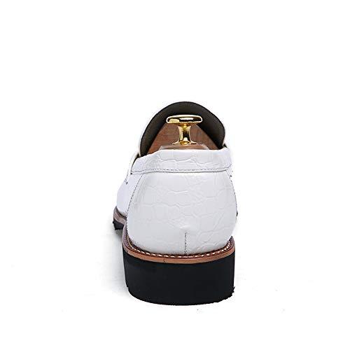 Resistente da con uomo all'abrasione lacci amp;Baby EU Scarpe 39 in Bianca Sunny Bianca pelle da basse uomo Dimensione Color stringate O71Wcqv